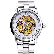 billige Mekaniske Ure-Herre Kjoleur Japansk Kronograf Rustfrit stål Bånd Kreativ / Mode Sølv