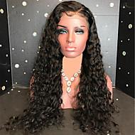 Remy hår Blonde Front Paryk Brasiliansk hår Krøllet Paryk 130% Dame Lang Blondeparykker af menneskehår