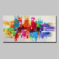 baratos -Pintura a Óleo Pintados à mão - Abstrato / Arte Pop Modern Tela de pintura