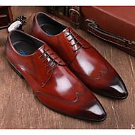 baratos Sapatos Masculinos-Homens Sapatos Confortáveis Pele Primavera Oxfords Preto / Vinho