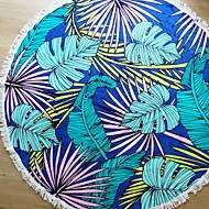 billiga Handdukar och badrockar-Överlägsen kvalitet Strand handduk, Blommig / Botanisk Polyester / Bomull Blandning 1 pcs