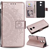 billiga Mobil cases & Skärmskydd-fodral Till Sony Xperia L2 Xperia L1 Korthållare Plånbok Lucka Fodral Blomma Hårt PU läder för Sony Xperia Z3 Sony Xperia Z5 Xperia XA2