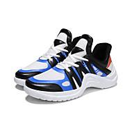 baratos Sapatos Masculinos-Homens Tule / Couro Ecológico Outono Conforto Tênis Corrida / Ciclismo / Caminhada Estampa Colorida Preto / Branco / Preto / Branco / azul