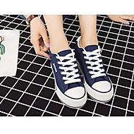 女性用 靴 キャンバス 秋 コンフォートシューズ スニーカー クリーパーズ ブラック / ダークブルー / レッド