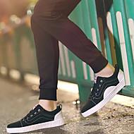 baratos Sapatos Masculinos-Homens Solas Claras Tecido Primavera / Outono Tênis Preto / Azul / Verde Escuro