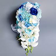 Χαμηλού Κόστους Ψεύτικα Λουλούδια-Ψεύτικα λουλούδια 1 Κλαδί Γάμος / Λουλούδια Γάμου Τριαντάφυλλα Λουλούδι για Τραπέζι