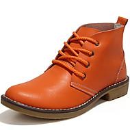 baratos Sapatos Femininos-Mulheres Sapatos Pele Outono & inverno Botas Cowboy / Country / Botas da Moda / Coturnos Botas Salto Robusto Botas Curtas / Ankle Preto /