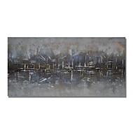 olcso -Hang festett olajfestmény Kézzel festett - Absztrakt Kortárs Modern Tartalmazza belső keret / Nyújtott vászon