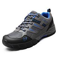 baratos Sapatos Masculinos-Homens Solas Claras Tule Outono Tênis Caminhada Marron / Cinzento Escuro / Verde Escuro