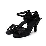 baratos Sapatilhas de Dança-Mulheres Sapatos de Dança Latina / Dança de Salão Seda Sandália / Têni Presilha / Cadarço de Borracha Salto Personalizado Personalizável