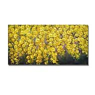 billiga Blom-/växtmålningar-Hang målad oljemålning HANDMÅLAD - Abstrakt / Blommig / Botanisk Samtida / Moderna Duk