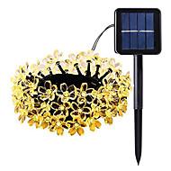 billiga Belysning-5m Ljusslingor 50 lysdioder 1Sätt monteringsfäste Varmvit / RGB / Vit Sol / Vattentät / Dekorativ 2 V 1set