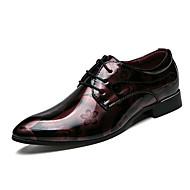 baratos Sapatos Masculinos-Homens Sapatos de Condução Couro Envernizado Verão Conforto Oxfords Vermelho / Azul / Festas & Noite
