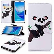 billiga Mobil cases & Skärmskydd-fodral Till Huawei Y9 (2018)(Enjoy 8 Plus) Plånbok / Korthållare / med stativ Fodral Panda Hårt PU läder för Huawei Y7(Nova Lite+) / Huawei Y6 (2018) / Huawei Y6 (2017)(Nova Young)