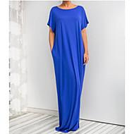 Kadın's Kumsal Temel Salaş Tunik Elbise - Solid, Kırk Yama Maksi