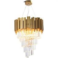 رخيصةأون -QIHengZhaoMing 9-الضوء كريستال نجفات ضوء محيط طلاء ملون معدن 110-120V / 220-240V أبيض دافئ يشمل لمبات