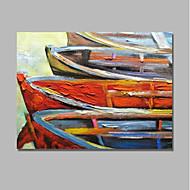 voordelige -Hang-geschilderd olieverfschilderij Handgeschilderde - Abstract / Landschap Hedendaags / Modern Kangas