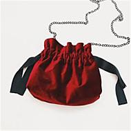 baratos Bolsas de Ombro-Mulheres Bolsas Algodão Bolsa de Ombro Caixilhos / Fitas Cinzento / Verde Escuro / Marron