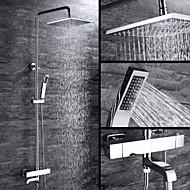 baratos Chuveiros-Torneira de Chuveiro - Moderna Cromado Instalação de Parede Válvula Cerâmica