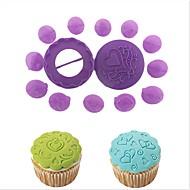 baratos Moldes para Bolos-Ferramentas bakeware Plástico Criativo / Faça Você Mesmo Biscoito / Cupcake / Para Gelado Moldes de bolos / Sobremesa decoradores / Ferramentas para Forno e Pastelaria 14pçs