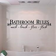 رخيصةأون -ملصقات وأشرطة / ملصقات الحمام بسيط / ضد الماء / اللصق التلقي العادي / الحديثة / المعاصرة PVC 1PC ديكور الحمام