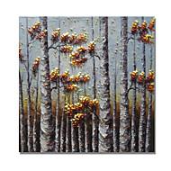 billiga Oljemålningar-Hang målad oljemålning HANDMÅLAD - Blommig / Botanisk Samtida / Moderna Duk