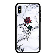billiga Mobil cases & Skärmskydd-fodral Till Apple iPhone X / iPhone 8 Plus Mönster Skal Tecknat / Blomma / Marmor Hårt Akrylfiber för iPhone X / iPhone 8 Plus / iPhone 8