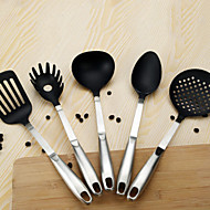 billige Køkken Redskaber-Køkken Tools Rustfrit stål Køkken Redskaber Hurtighed Madlavningsværktøjssæt Dagligdags Brug 5pcs