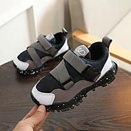 baratos Sapatos de Menino-Para Meninos Sapatos Com Transparência / Couro Ecológico Outono & inverno Conforto Tênis Caminhada para Adolescente Preto / Cinzento / Vermelho