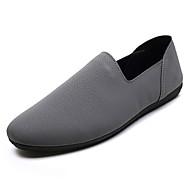 baratos Sapatos Masculinos-Homens Mocassim Couro de Porco Verão Conforto Mocassins e Slip-Ons Preto / Cinzento