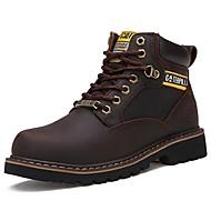 baratos Sapatos Masculinos-Homens Coturnos Pele Napa Outono Botas Botas Curtas / Ankle Preto / Marron / Castanho Escuro