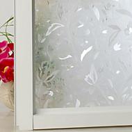 baratos Películas e Adesivos de Janela-Filme de Janelas e Adesivos Decoração Floral Flor PVC Antirreflexo