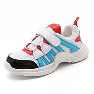 baratos Sapatos de Menina-Para Meninas Sapatos Tule / Couro Ecológico Primavera Verão Conforto Tênis Caminhada Velcro para Adolescente Preto / Azul / Rosa claro