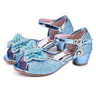 cheap Kids' Sandals-Girls' Shoes Sparkling Glitter Spring / Summer Comfort / Novelty / Flower Girl Shoes Sandals Rhinestone / Bowknot / Pearl for Purple / Blue / Pink / Peep Toe / Wedding