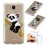 billiga Mobil cases & Skärmskydd-fodral Till Huawei Y5 III(Y5 2017) Stötsäker / Ultratunt / Genomskinlig Skal Panda Mjukt TPU för Huawei Y520