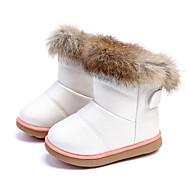 baratos Sapatos de Menina-Para Meninas Sapatos Couro Ecológico Inverno Botas de Neve / Solados com Luzes Botas Caminhada Velcro para Infantil Branco / Fúcsia /