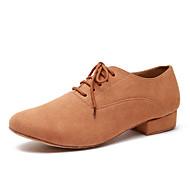 billige Moderne sko-Herre Moderne sko Mikrofiber Joggesko Blondesøm Tykk hæl Dansesko Militærgrønn / Kamel