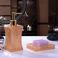 Χαμηλού Κόστους Σετ αξεσουάρ μπάνιου-Σετ αξεσουάρ μπάνιου Νεό Σχέδιο Μοντέρνα Ρητίνη 2pcs - Μπάνιο Διπλό