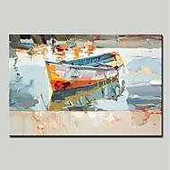 billiga Stilleben-mintura® handmålade abstrakta båtoljemålning på duk modern väggkonst bild för heminredning redo att hänga