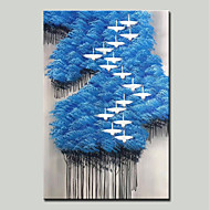 billiga Landskapsmålningar-Hang målad oljemålning HANDMÅLAD - Abstrakt / Landskap Moderna Duk