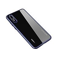 billiga Mobil cases & Skärmskydd-fodral Till Huawei P20 / P20 Pro Genomskinlig Skal Enfärgad Hårt Akrylfiber för Huawei P20 / Huawei P20 Pro / Huawei P20 lite
