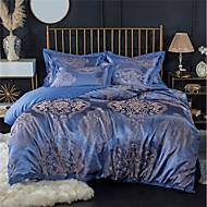 cheap Bedding Collection-Duvet Cover Sets Luxury 100% Cotton / Silk / Cotton Blend / Cotton Jacquard Printed & Jacquard 4 PieceBedding Sets / 300 / 4pcs (1 Duvet Cover, 1 Flat Sheet, 2 Shams)