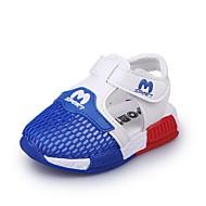 baratos Sapatos de Menino-Para Meninos Sapatos Tule Verão Primeiros Passos Sandálias Corrida Vazados para Bebê Preto / Azul / Rosa Claro