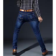 Herre Tynd Jeans Bukser Ensfarvet