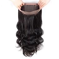 Fulgent  Sun Women's Wavy 360 Frontal Brazilian Hair Swiss Lace Human Hair Free Part Lace Closure Dailywear / Engagement / Daily
