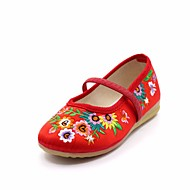 tanie Obuwie dziewczęce-Dla dziewczynek Obuwie Satyna Wiosna Wygoda Buty płaskie na Dzieci Brzoskwiniowy / Czerwony / Różowy