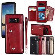preiswerte -Hülle Für Samsung Galaxy Note 8 Kreditkartenfächer Ganzkörper-Gehäuse Solide Hart PU-Leder für Note 8