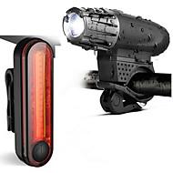 preiswerte -Fahrradlicht / Fahrradrücklicht / Wiederaufladbares Fahrradlichtset LED Radlichter Radsport Wasserfest, Tragbar, Professionell Li-Ionen 300 lm Weiß Radsport