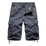 Hombre Corte Ancho Ajustado a la Bota / Shorts / Pantalones tipo cargo Pantalones - Un Color Verde Ejército