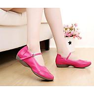 billige Moderne sko-Dame Moderne sko Bomull Høye hæler Kubansk hæl Dansesko Svart / Fuksia / Rød